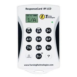 Mentometer TurningPoint RF-LCD andvänds för att skapa interaktiva möten för företag och skola