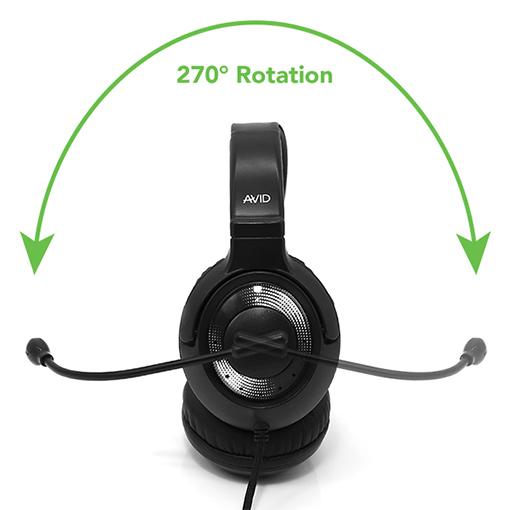 Hörlurarna AE55 har en bommikrofon som kan roteras 270°