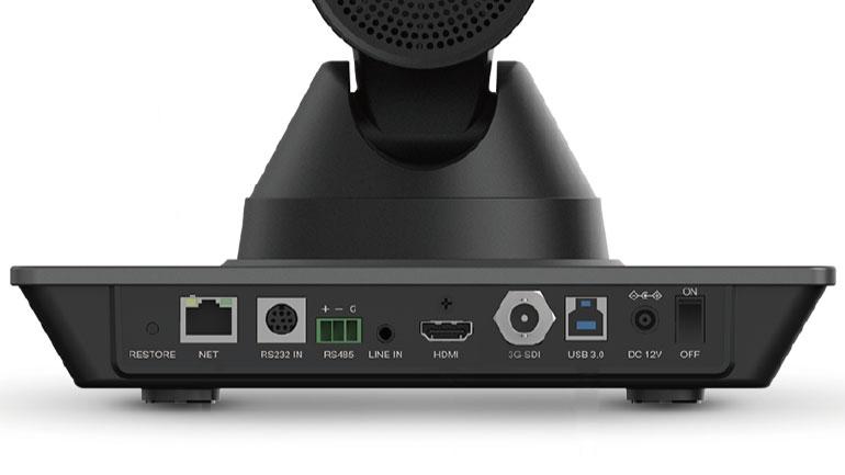 konferenskameran har bland annat USB och HDMI-port