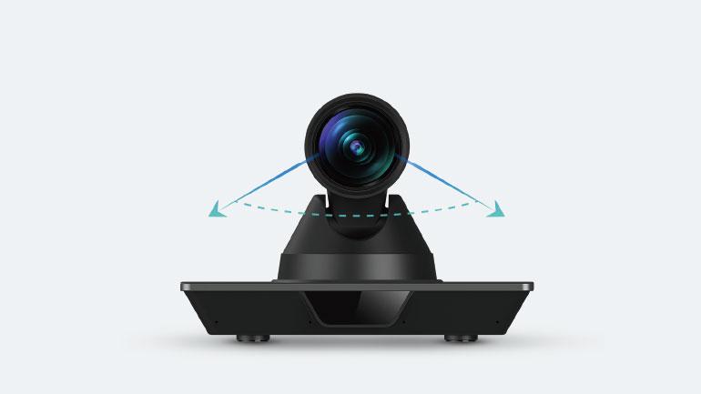 PTZ-kameran från MaxHub har ett maximalt synfält på 71°